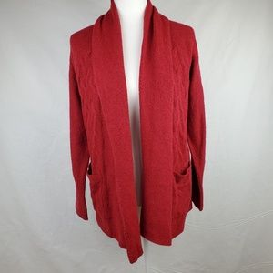 Lucky Brand Red Cardigan NWT